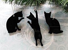 Cat Silhouette Ornaments