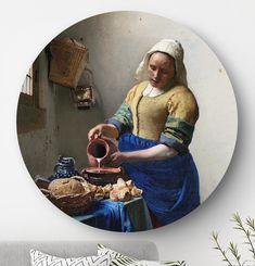 Ronde oude meesters: wandcirkels en muurcirkels HIP ORGNL Masters Johannes Vermeer, Art Deco, Artist, Painting, Inspiration, Home, Kitchen, Products, Biblical Inspiration