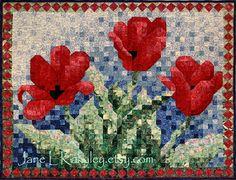 Quilt+Pattern++Tulip+Mosaic+Art+Quilt+Pattern+by+JaneLKakaley