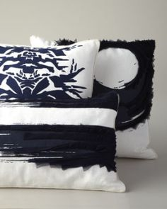 Navy & White Pillows by Ankasa at Horchow. by patrice