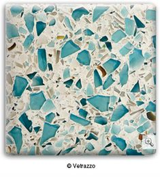 Sustainable sea glass surfaces