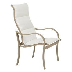 Tropitone Shoreline Dining Arm Chair (Set of 2) Finish: Parchment, Fabric: Sparkling Water
