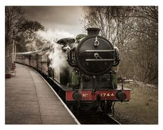 Steam Train Locomotive Engine Photograph  by AdamClarkPhotography on Etsy.