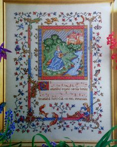 Barbara Ann Richter ILLUMINATED MANUSCRIPT by ThePamperedStitcher