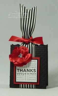 Stampin' Up!  Fancy Favor Box  Darlene McCallum - switch out for soft colors for mother's day gift
