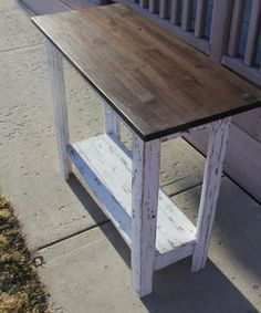 Simplest Console (first furniture project) | Do It Yourself Home Projects from Ana White