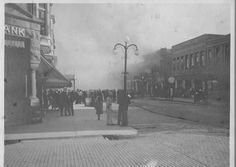 Weir and Cowley Fire ,downtown Ligonier 1918, 210 South Cavin St.