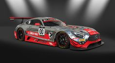 Mercedes-AMG GT3 im Linkin Park Racing Design by Joe Hahn.