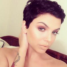 @ Moriah doesn't play fair.   #thecutlife #shorthair #pixie #pixiecut #freshface #mua #style #beauty #stunner ✂️ #Padgram