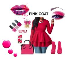 """""""Pretty Pink Coats"""" by anchesky ❤ liked on Polyvore featuring McQ by Alexander McQueen, Sonix, D&G, Juicy Couture, OPI, Topshop and pinkcoats"""
