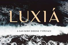 Luxia free font is a modern san-serif didonen typeface with a splash of lavish characters. New Free Fonts, New Fonts, Logo Luxe, Free Fonts For Designers, Free Typeface, Typography Love, Web Design Projects, Design Ideas, Brand Fonts