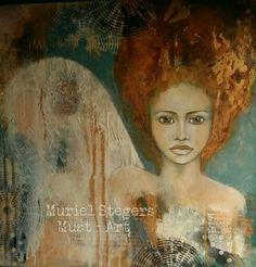 Meet Sienna ♡ Mixed media art by Muriel Stegers - Must Art