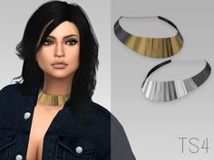 LeahLillith Metal Choker (ts3 to ts4)- 4 colors - Bone Assignment - Custom Thumbnail - Custom Shadow Map - HQ Mod by Alf-Si Compatible - Mesh Credits to LeahLillith Download: [MEDIAFIRE] [DROPBOX]