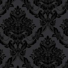 Palais Black Velvet Wallpaper. Around the fireplace in the family room?