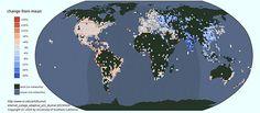 発展途上国では、夜になるとネットカフェは閉店し、家庭のルーターも停止する。世界のインターネットの日周リズムをマップ化した画像を紹介。