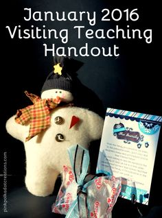 Jan. 2016 Visiting Teaching Handout- Pink Polka Dot Creations.