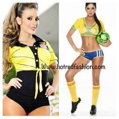 #bikini #bodysuit #top #sportwear #mundialbrasil #workdcup #soccer #worldcup14 #fifa #colombia Www.hotredfashion.com s m l XL Sport Wear, Cute Fashion, Fifa, Bikinis, Swimwear, Soccer, Bodysuit, Tops, Colombia