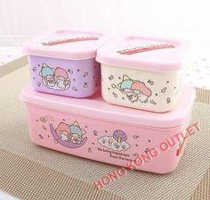 Little Twin Stars Bento Lunch Box Snack  case Set  Japan Sanrio  F20a #JapanSanrio