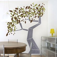 Abstract Tree Wall Mural Design Decoration for Elegant Living Room or Bedroom for Your Wall Murals Interior Decoration Inspiration Ideas Tree Wall Painting, Tree Wall Murals, Tree Wall Decor, Tree Wall Art, Wall Paintings, Painting Wallpaper, Wallpaper Ideas, Tree Art, Painting Art