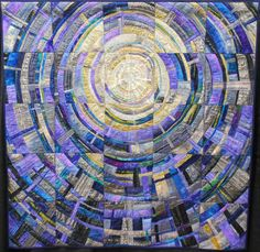 """""""Rhapsody in Blue"""" by Jang Hung-Sook;  Special Exhibit - Korean Quilters Association;  MN Quilters Annual Show 2011"""