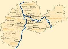 Karte der Metropolregion Rhein-Neckar