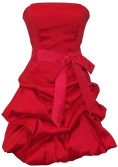 #Strapless Taffeta Bubble Dress with Pull-Ups Formal Gown Prom #Dress       Simple and Elegant       http://amzn.to/GZ2OCT