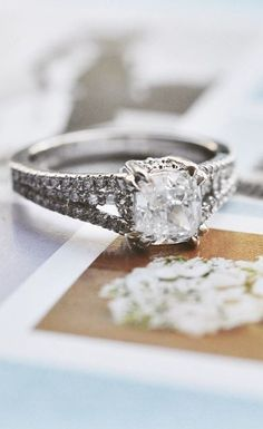 This stunning antique engagement ring has a classically elegant feel.