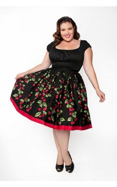 Fans of vintage silhouettes will love our new Jenny skirt! Gathered for extra fullness, it's made of a generous helping of our quality cotton sateen with a wide waistband and back zipper. The result is a nipped in waist and gorgeous skirt volume for a real retro feel - and so stunning in our exclusive painted Cherry Border Print. - See more at: http://www.pinupgirlclothing.com/jenny-skirt-cherry.html#sthash.Jlcd0wVN.dpuf