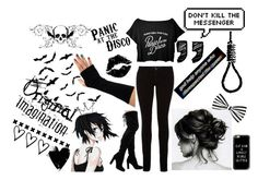 """Panic! at the Disco"" by requiem-of-kingdom-hearts ❤ liked on Polyvore featuring M.i.h Jeans and Casetify"