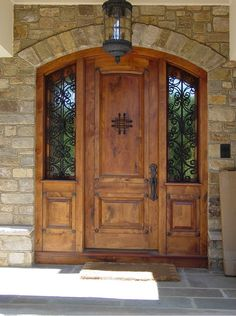 Exterior, : Surprising Front Exterior Doors Design With Mahogany Wood And  Nice Black Iron Window Also With Lamp Cage Design Interior Part 62