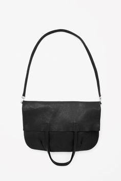 Raw-edge leather shopper
