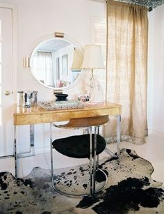 still need to decide how to rework the dining room buffet ... gold leaf? with perhaps a glass or mirrored top?  (KELLY WEARSTLER_MY VIBE MY LIFE_GOLD 3)