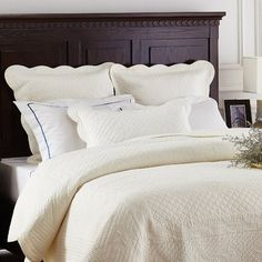 August Grove Lafollette Luxury Quilted Pillow Sham Size: King, Color: Ivory