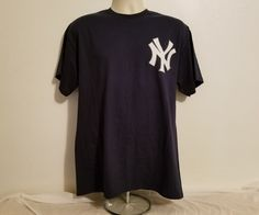 Majestic New York Yankees Mark Teixeira #25 Adult Large Blue Baseball MLB TShirt #Majestic #NewYorkYankees