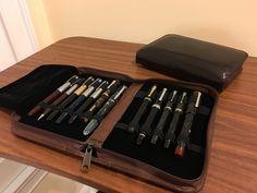 Pen Storage - Aston leather 10-pen folio