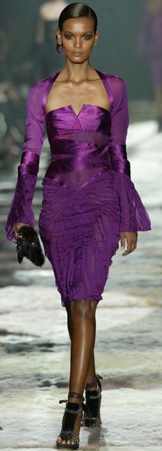 Purple dress....Tom Ford...