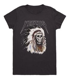 yeezus indian headress t-shirt  | to take the train