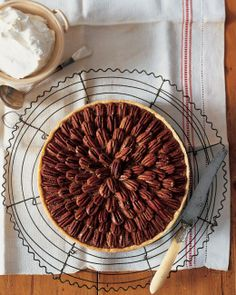 Martha Stewart's beautiful Pecan Pie