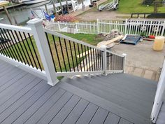 Browse our image gallery of gray composite decking.