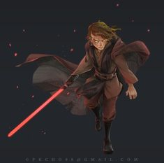 Anakin Skywalker Discover Anakin Skywalker by PKCHO on DeviantArt Star Wars Sith, Clone Wars, Star Trek, Anakin Darth Vader, Anakin Skywalker Lightsaber, Star Wars Fan Art, Batman Vs Superman, Star Wars Poster, Star Wars Characters