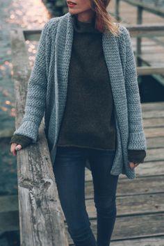 Knit cardigan sweater - Jess Kirby