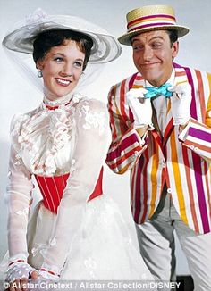 Julie Andrews as Mary Poppins, with Dick Van Dyke in Disney's Mary Poppins - Celebrating its Golden Anniversary this year on 29 August 2014