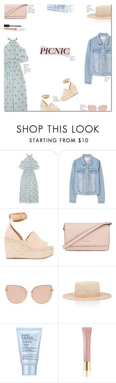"""picnic♥"" by jadeisback ❤ liked on Polyvore featuring Temperley London, MANGO, Chloé, Kate Spade, Topshop, Janessa Leone, Estée Lauder, AERIN and picnic"