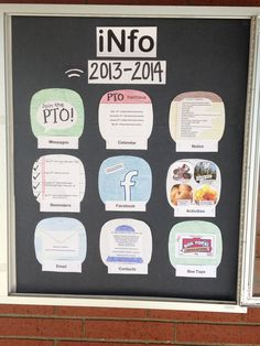 PTO information board for middle school.