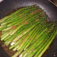 Barbecued soy-sesame asparagus @ http://allrecipes.co.uk