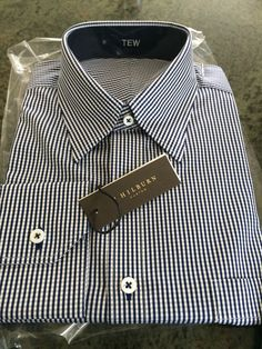 Navy small gingham with navy contrast.