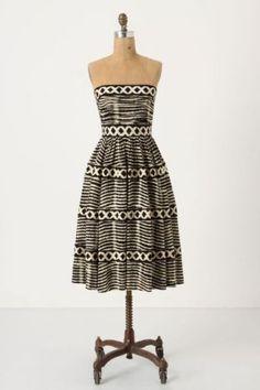 Anthropologie-Tracy-Reese-New-York-Lattice-Ring-Black-Dress-Size-6-M-348
