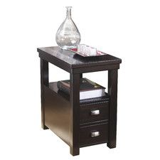 modern narrow nightstand wooden dark espresso wenge chair side table