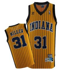 Reggie Miller jersey-Buy 100% official Mitchell and Ness Reggie Miller Men's Authentic Gold Jersey Throwback NBA Indiana Pacers #31 Free Shipping.