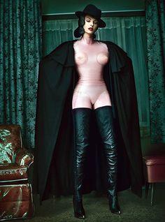 Linda in crotch high boots & latex Goddess Tasha Only High Heels